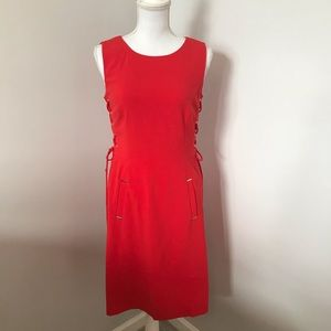 Tahari Sleeveless Red Fitted Dress